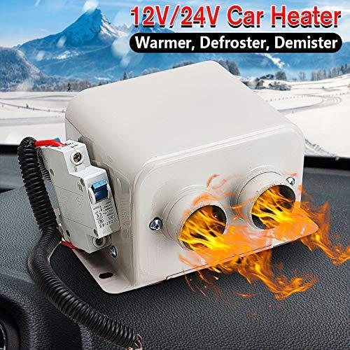 yanbirdfx 12V/24V Winter Car Windscreen 2 Holes Electric Warmer Heater Defroster Demister 12V 500W