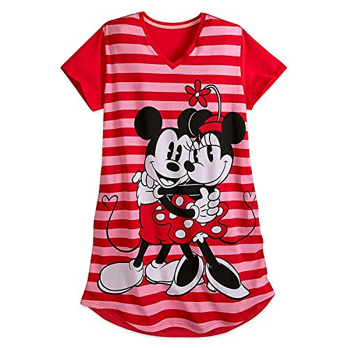 Disney Mickey and Minnie Mouse Nightshirt For Women Size M/L (For Women Nightshirts Sleepwear)