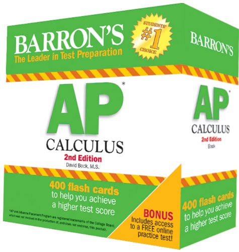 Barron's AP Calculus Flash Cards, 2nd Edition
