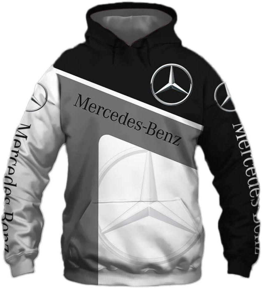 TJZY Hombres Sudaderas con Capucha Chaqueta por Mercedes-Benz 3D Digital Impresión Encapuchado Zip/Pullover Casual Saltador Sweatshirts Teenager / E1 / L