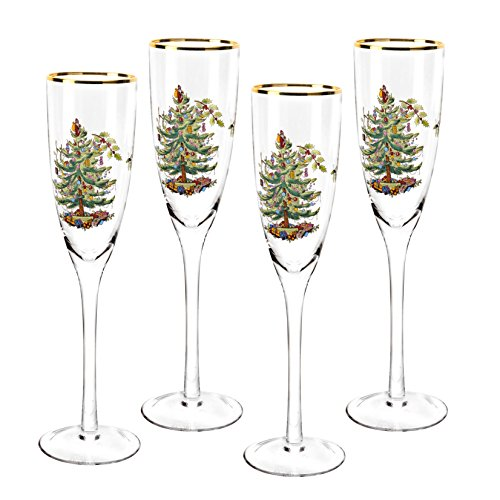 Tree Flute (Spode Christmas Tree Champagne Flutes (Set of 4))