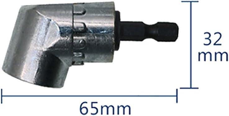 """Angle de 105 ° 1//4/"""" Extension Hex Perceuse Tournevis Socket Holder Adaptateur pour forets"""