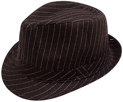 Simplicity Unisex Manhattan Structured Gangster Trilby Fedora Hat
