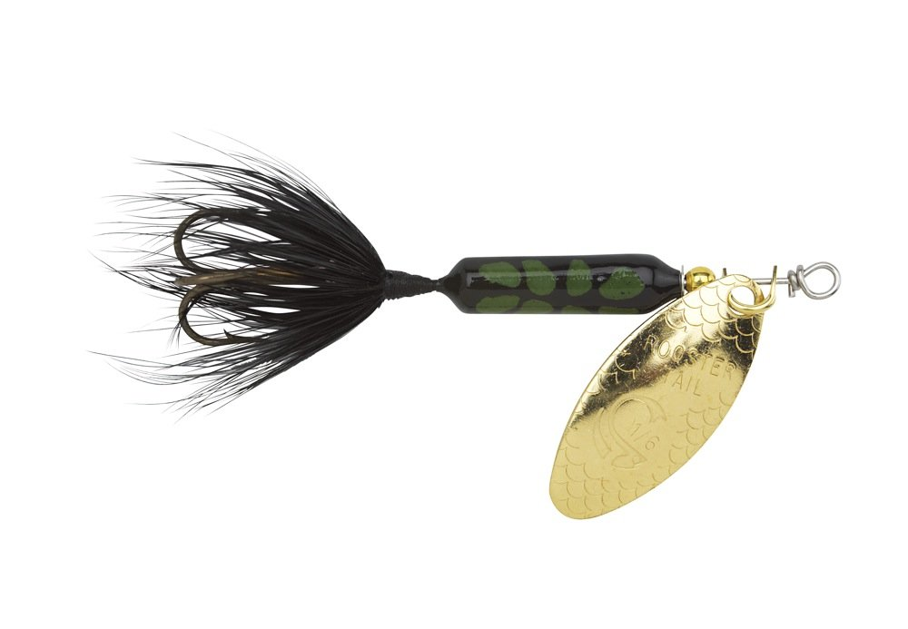 Yakima Bait Wordens Original Rooster Tail Spinner Lure, Black Coachdog, 1/8-Ounce by Yakima Bait