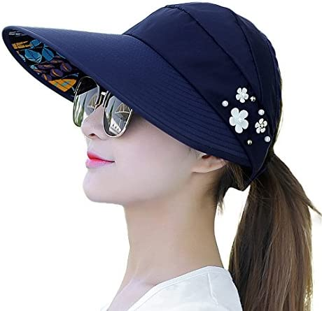 Naimo New Women s Large Big Brim Anti-UV Beach Hat Foldable Summer Sun Hat 5b5bbc3fb42a