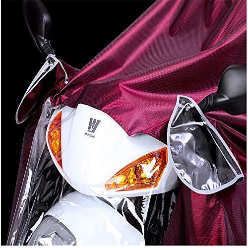 Scooter De Cloth Ropa Motorcycling Ranura Antiniebla Oxford Cubierta con Lluvia De skyblue Motocicleta Eléctrica De Ranuras Alargado Espejo Capa Impermeable Impermeable Grande Movilidad Poncho 6wqRIF