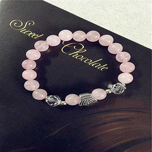 Lumanuby 1 Pcs Bracelet Charm Fashion Pearl Pendants For Lady Women Jewellery Hand Chain Crystal Romantic Pink Crown Beaded Design For Party