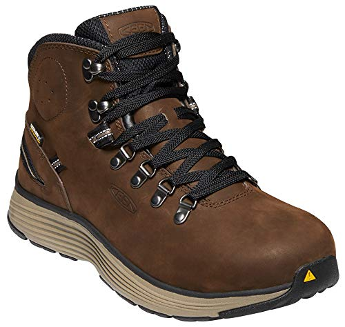 (KEEN Utility - Men's Manchester 6'' WP (Aluminum Toe) Waterproof Work Boot for Maintenance, Transportation, Warehouse and Distribution, Cascade Brown/Brindle, 11D M US )