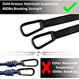 Gold Armour Camping Hammock - USA Brand Single