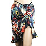 salsa dancing outfits - Womens Dresses For Dancing Class Stage Ballroom Dance Skirt Floral Dress For Latin Tango Flamenco Salsa Belly Dancing