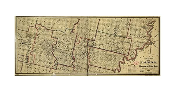 Amazon.com: 1878 Railroad Map of Arkansas. Map covers part of ...