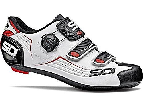 - Sidi Alba Road Bicycle Men's Cycling Shoes Black White Red (43.5)