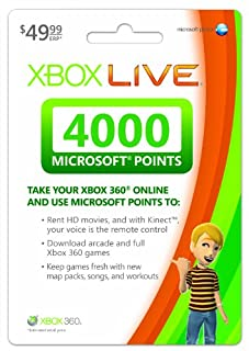 Xbox LIVE 4000 Microsoft Points - Xbox 360 Digital Code (B001V7QIDY) | Amazon price tracker / tracking, Amazon price history charts, Amazon price watches, Amazon price drop alerts