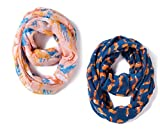 Toddler Lightweight Infinity Scarfs Kids Shawl Wrap Scarves for Girls Boys by A Sund (pair4#)