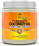 Coconut Oil for Dogs - Certified Organic & Extra Virgin Superfood Supplement - Anti Itch & Hot Spot Treatment - For Dry Skin on Elbows & Nose - Natural Digestive & Immune Support - 16 OZ