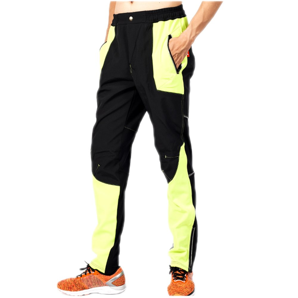 ynportメンズ冬フリースアウトドア防風スポーツ防水サイクリングパンツ自転車パンツ B075XJXH2M Size XL--Waist(29.13