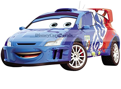 8-inch-raoul-caroule-6-france-world-grand-prix-walt-disney-pixar-cars-2-movie-removable-wall-decal-s