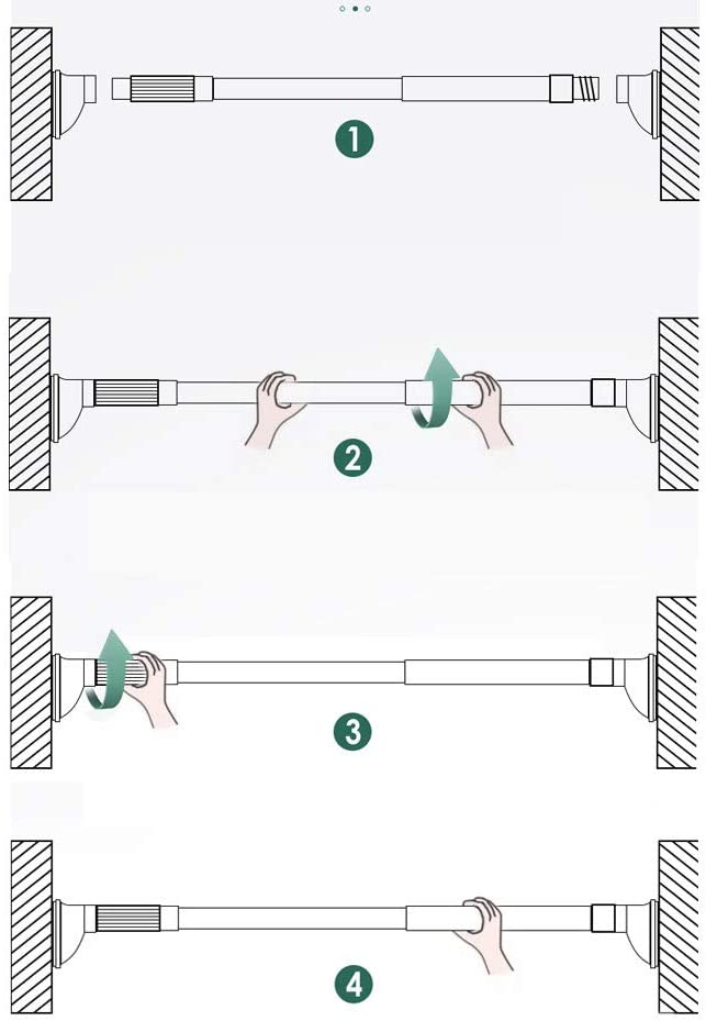 a 53-80cm FF/&XX No Drilling Telescopic Curtain Rod,adjustable Doorway Clothes Hanger Pole,spring Tension Utility Rod Rust-resistance Shower Curtain Rod 21-31inch