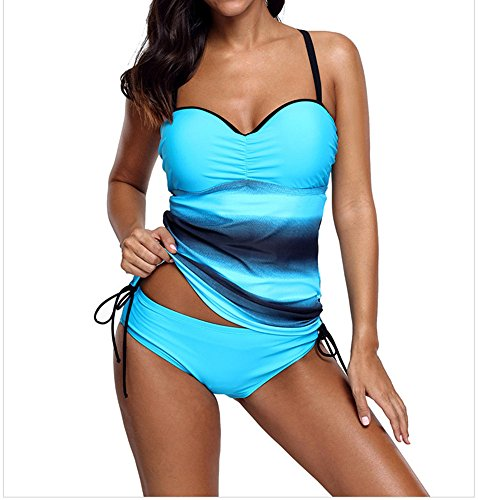Xuan2Xuan3 Womens Tankini Top Swimsuit Color Bl...