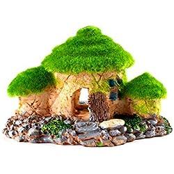 OMEM Reptile Houses Hide Small Animals Reptiles Decorations for Terrarium Decorative Landscaping Resin Rockery Estate Reptiles Supplies