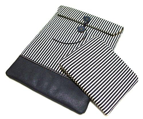 LaSyL Handmade Envelop Style Stripe Pattern Laptop Sleeve for MacBook Retina 13