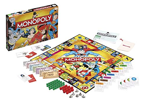 Winning Moves Games DC Comics Retro Monopoly Board Game ()