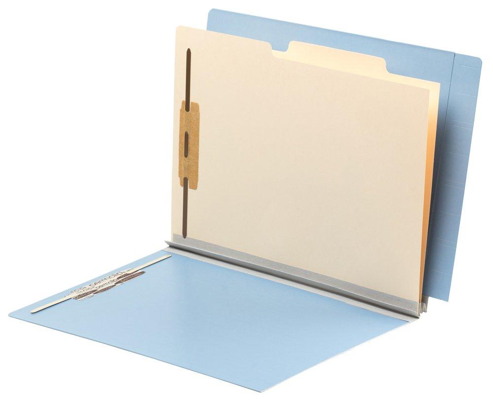 TAB FORTIfile Pressboard Classification Folder 2 Dividers Letter Size Expansion Azure Blue 20/Box