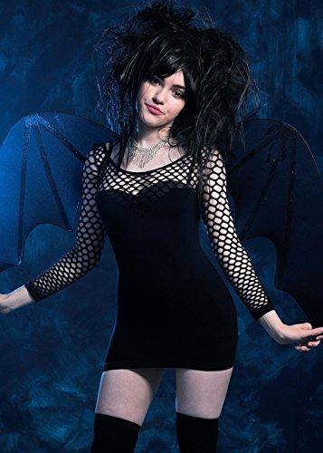 Costume Nero del Gatto Nero di Halloween delle Donne S (UK 8-10)