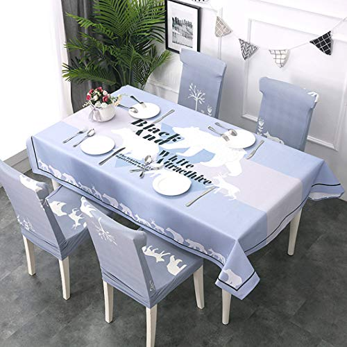 - RXIN Modern Tablecloth Waterproof Table Cloth Rectangular Cotton Polyester Table Cover Chair Cover Set Home Decor