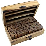 Estone 70pcs/set Wooden Box multipurpose Number Alphabet Letter Wood Rubber Stamp New