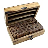 #2: Estone 70pcs/set Wooden Box multipurpose Number Alphabet Letter Wood Rubber Stamp New