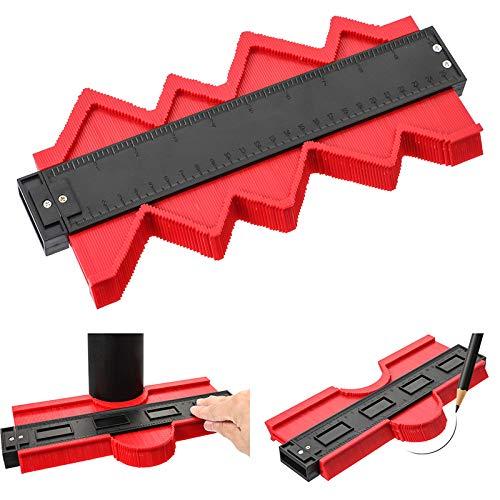 outil multifonction de marquage de forme avec graduation irr/éguli/ère en plastique pour mesurer le bois et le carrelage 25,4 cm et 12,7 cm Lot de 2 gabarits de contours