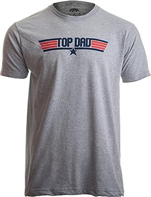 Ann Arbor T-shirt Co. Top Dad | Funny 80s Father Humor Movie Gun 1980s Military Air Force Men T-Shirt