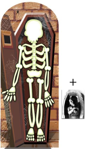 Fan Pack - Skeleton Crypt Halloween Lifesize Cardboard Stand-in Cutout - Includes 8x10 (20x25cm) Star Photo]()