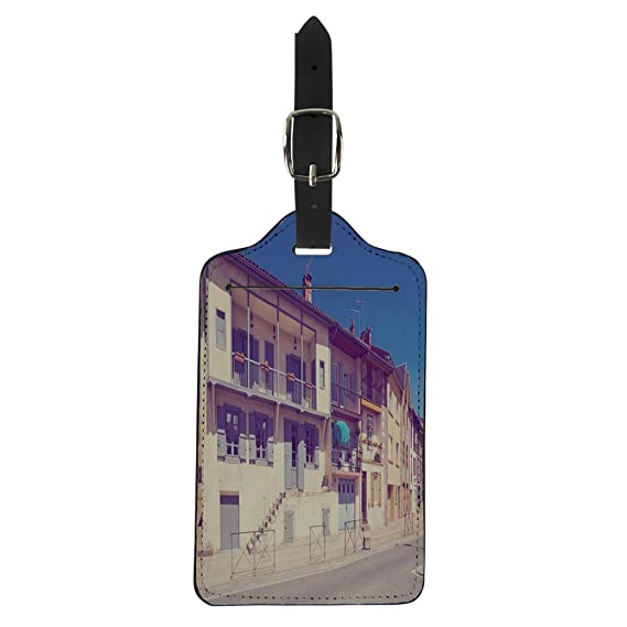 c7f57d63d044 Amazon.com   Pinbeam Luggage Tag Cool Flat Character on Skeleton ...
