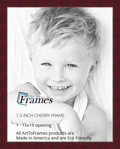 ArtToFrames 15x19 inch Cherry Stain on Solid Wood Wood Picture Frame, 2WOM0066-78238-YCHY-15x19