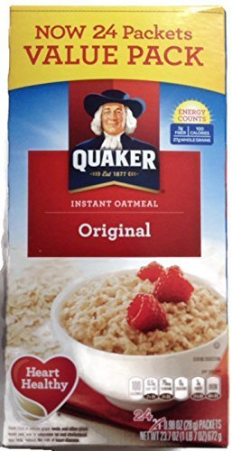 Quaker Original Instant Oatmeal Value Pack, 24 Packets, 23.7 - Oatmeal Original