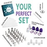 SveBake Decorating Tips Set 28 PCS with 3 Silicone Pastry Bags 4 Plastic ...