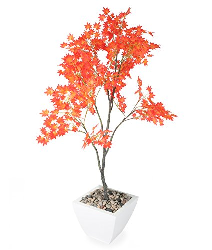 - Closer To Nature Artificial 5ft Red Japanese Maple Tree - Artificial Silk Plant & Artificial Tree Range
