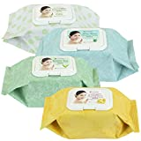 Make Facial Cleansing Wipes - Kareway Epielle Assorted Makeup Remover Cleansing Towelettes, 60 Counts (Pack of 4)
