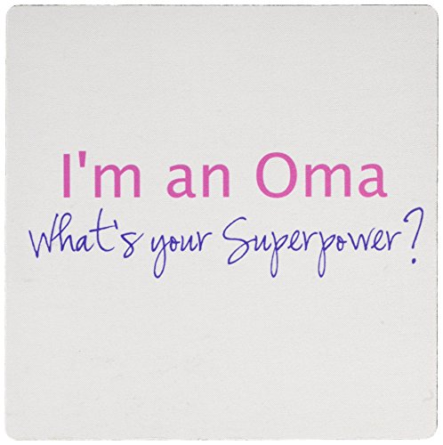 Pad Hot Super Mouse (3dRose Im an Oma - Whats your Superpower - hot pink - Mouse Pad, 8 by 8 inches (mp_193754_1))