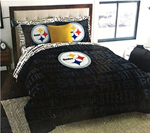 NFL Pittsburgh Steelers Football Queen Size Comforter and Sheet Set (Bed in a - Queen Comforter Nfl Football Bedding