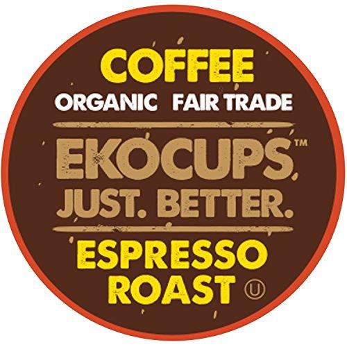 EKOCUPS Artisan Organic Espresso Dark Recyclable