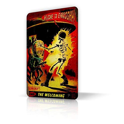 TIN Sign Mars Attacks Classic Movie Metal Decor Home Art Funny Wall ()