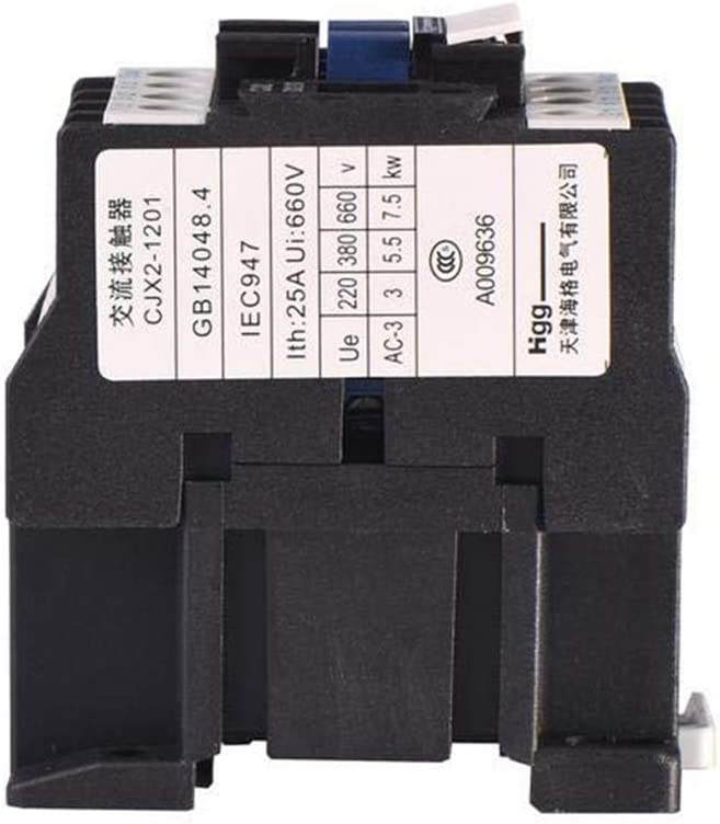 Bookh AC Contactor Distribution electrical Motor Starter Relay 3-Phase Pole 1NC 24V Coil Voltage CJX2-1201