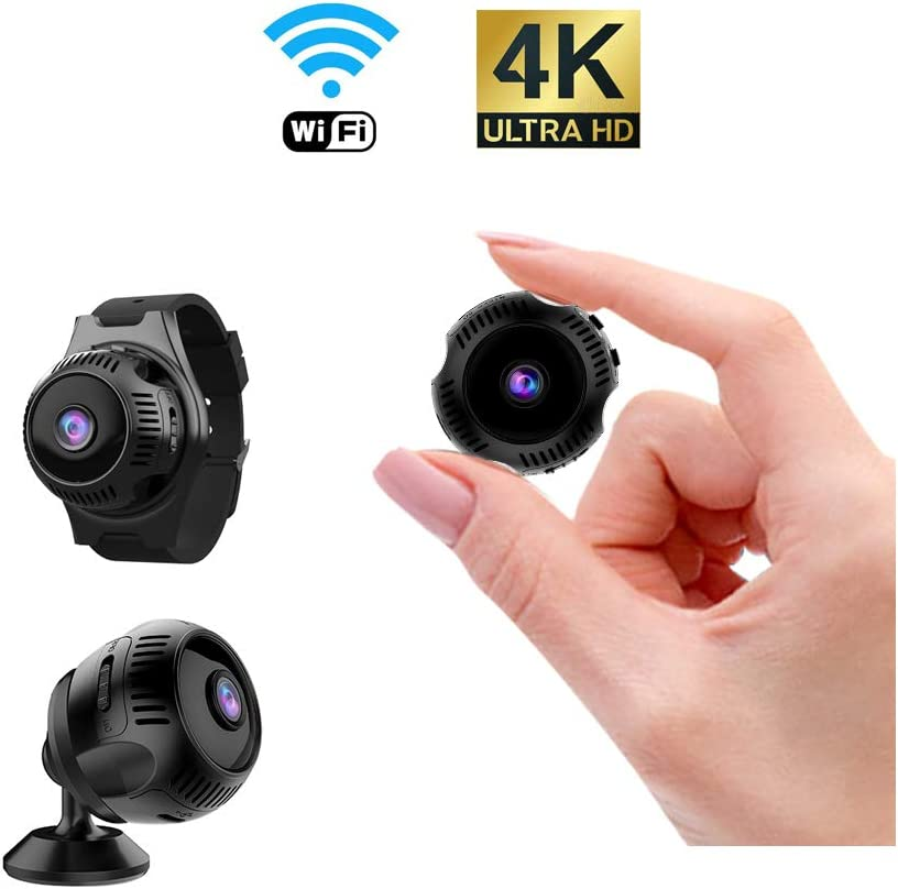 VRVZU Spy Camera Wireless Hidden Camera Ultra HD 4K Mini WiFi Camera