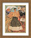 Marxism Will Give Health to the Sick 2x Matted 28x34 Large Gold Ornate Framed Art Print by Frida Kahlo