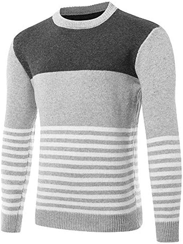 Reeseiy sweter męski elegancki długi rękaw splice szykowny sweter z dzianiny Casual paski sweter wiosna jesień delikatny dzianina bluza męska Nner: Odzież