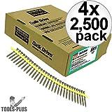 Quik Drive DWF158PS 2500pk #6 X 1 5/8'' Drywall Fine Thread Screws 2 Bits 4x 4-Pack
