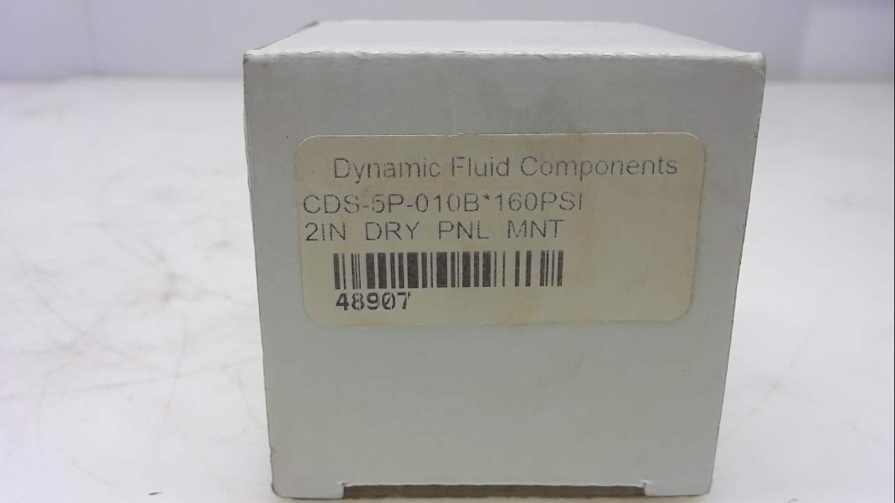 Dynamic Fluid Cds-5P-010B 160 Psi Cds-5P-010B 2 Diameter Dry Gauge